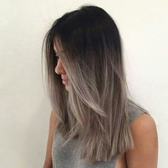 hair, grey, and ombre image