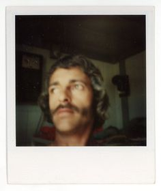 Vintage photo 'Pola man' vernacular photograph polaroid snapshot, blurry portrait of a young man with a strong face. by GRAINSofBrussels on Etsy