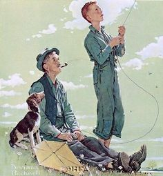 Soaring Spirits by Norman Rockwell art print