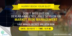 DexLab Analytics is Organizing a Market Risk Modelling Workshop Risk Analytics, Market Risk, Organizing, Organization, Risk Management, Workshop, Marketing, Books, Model
