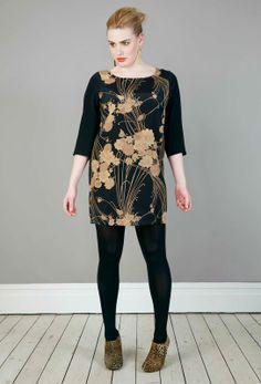 Anna Scholz - Silk Crepe de Chine Colourblock Shift Dress