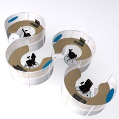 This innovative, modular desk allows workers to collaborate like never before. It looks great too!