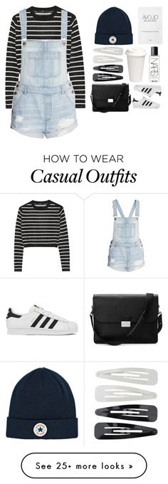 """casual strippes"" by rputriwidyastri on Polyvore featuring TIBI, adidas, Converse, Forever 21, NARS Cosmetics and Aspinal of London"