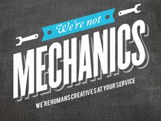 "We're not mechanics by Antony ""Graffr"""