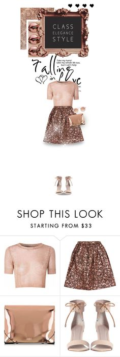 """""""Falling In Love"""" by inlovewithabook ❤ liked on Polyvore featuring Glamorous, Alice + Olivia, MM6 Maison Margiela, Zimmermann, ASOS, love, rosegold and metalic"""