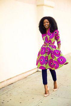 blackandkillingit:  divalocity:  Chic Happens: Folake x The Gugu Wrap Coat Dress fromDemestiksNewYork Photo by Style Pantry  Black Girls Killing ItShop BGKI NOW