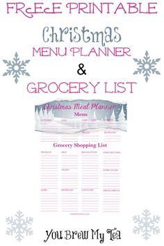 Don't miss out on this awesome FREE Printable Christmas Menu Planner with Grocery List!