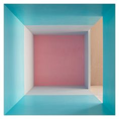 Erin O'Keefe Empty (Aqua, Grey, Pink, Side Light), 2011 Archival pigment print