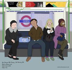 Cake and tears, District line, January 2016 – Wilson Yau: I draw, teach and make stuff District Line, London Underground, January 2016, London England, My Drawings, 30th, Tube, Family Guy, Teaching