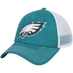 Philadelphia Eagles Pro Line Core Trucker Adjustable Snapback Hat - Midnight Green/White