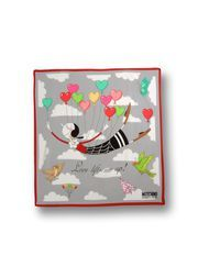 """""""Love Lifts Me Up"""" Olive Oyl-Inspired Scarf. Moschino Online Store - Foulards/Scarves. Moschino.com"""