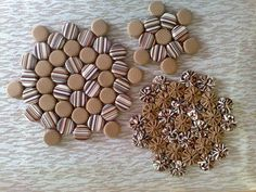 Descanso de Panelas e Copos Bottle Top, Quilted Bag, Dog Food Recipes, Fun Crafts, Upcycle, Diy, Quilts, Chocolate, Fabric
