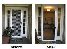 1000 images about screen doors on pinterest security for Wizard retractable screen door
