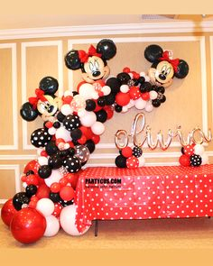 Balloons with helium with delivery. Minie Mouse Party, Theme Mickey, Minnie Mouse Birthday Decorations, Minnie Mouse Balloons, Minnie Mouse Theme Party, Minnie Mouse First Birthday, Minnie Mouse Baby Shower, Mickey Mouse Parties, Mickey Mouse Birthday