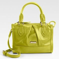 Burberry Leather Bag in Chartreuse <3