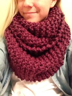 NEW! Fig Purple Very Oversized and Chunky Hand Knit by TheRedOyster, $43.00