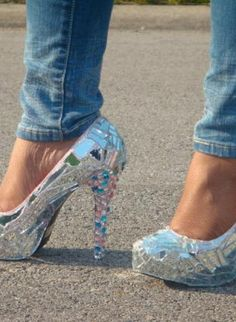 """""""Mirror Mirror On the Shoe"""",  Shoes, unique chic custom fashion style, Chic"""