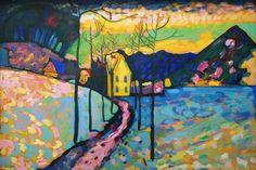 Painting Snow, Winter Painting, Oil Painting On Canvas, Painting & Drawing, Life Drawing, Thomas Kinkade, The Snow, Kandinsky Art, Wassily Kandinsky Paintings