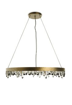 NAICCA | SUSPENSION LIGHT A brass lamp that recalls the Giant Crystal Caves in Mexico. living room ideas, bedroom design ideas, modern interior design ideas | See more at http://brabbu.com/en/lighting/naicca-suspension-light/
