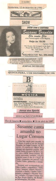 1996 - O GLOBO / Jornal do Brasil / Jornal dos Sports