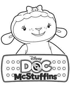 Lambie the Lamb in Doc McStuffins Coloring Page - NetArt