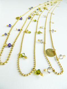 Arrow necklaces, one round. Natanè, jewels, necklaces
