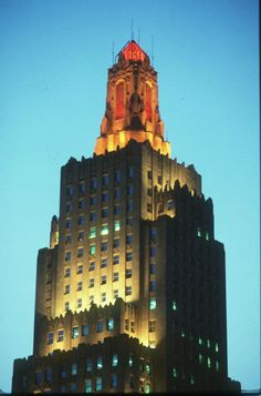 Historical Power and Light Building downtown KC