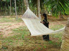 Handmade Eco Friendly Cotton Sleeping Hammock!