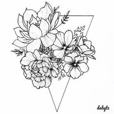 Flowers drawing simple tattoos 61 ideas is part of Thigh tattoos Flower Ring - Thigh tattoos Flower Ring Kunst Tattoos, Neue Tattoos, Tattoo Drawings, Body Art Tattoos, Sleeve Tattoos, Sketch Tattoo, Form Tattoo, Shape Tattoo, Tattoo Arm