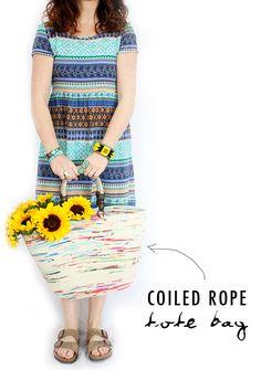 alisaburke: coiled rope tote bag