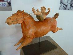 Premier galop, déc. 2013 Sandro, Horse Art, Whimsical, Pottery, Sculpture, 2013, Cats, Third, Google