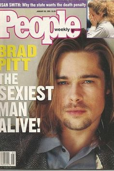 Brad Pitt, 1995 | Here's What People Magazine's Sexiest Men Alive Look Like Today
