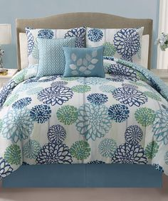 Love this Blue Cameron Reversible Comforter Set by Victoria Classics on #zulily! #zulilyfinds