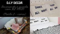 DIY - faça você mesma. Decore seu quarto com apenas R$ 100. Parte 3: cama (organizador caixote de feira, fronhas personalizadas, manta)   (Por: Carla Sant'Anna, blog Burguesinhas)