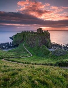 Dunnottar Castle, yes it's a long walk to the seas edge, Stonehaven, Scotland