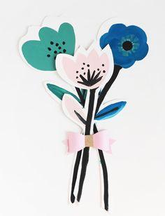 DIY Flower Cards for Mother's Day via @handmadecharlotte