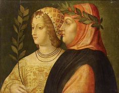 Happy birthday, Francesco Petrarca (a.k.a. Petrarch), born this day in 1304. What better way to celebrate the Tuscan poet's birthday today than with this Venetian painting, circa 1510, which portrays him with the lady who rejected him in life, Laura de Noves? She rebuffed him for good reason; she was married with children at the time of their first meeting.