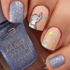 School year ends this Friday so for the first time in like what a month (? Animal Nail Designs, Disney Nail Designs, Girls Nail Designs, Cute Nail Art Designs, Animal Nail Art, Kid Nail Art, Baby Nail Art, Disney Acrylic Nails, Summer Acrylic Nails