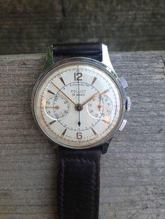 Vintage POLJOT Chronograph Strela Cal 3017 Russian Pilot Military Watch USSR | eBay