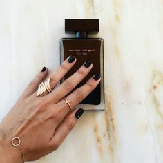 Nails, black nails, simple nails, sick nails