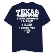 ec7a243f9 Texas Food Groups - Navy Tee Outhouse Designs T-shirt Store