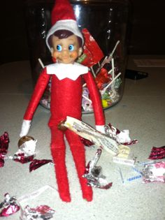 Elf on Shelf raided Lily's chocolate stash