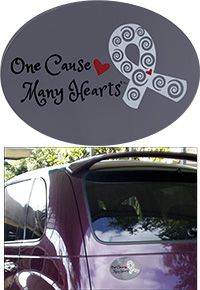 One Cause Many Hearts Diabetes Awareness Car Magnet