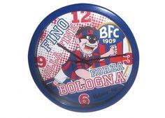BALANZONE OROLOGIO MURO 30CM  Orologio muro in plastica con disegno all'interno del Balanzone e stemma del Bologna F.C.