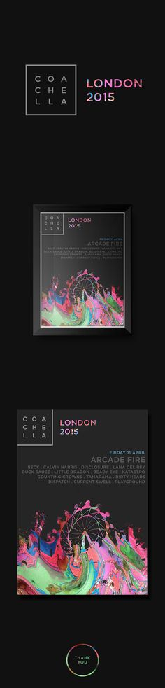 An academic project to recreate the logo of the Coachella Festival and use it as an exhibition poster.