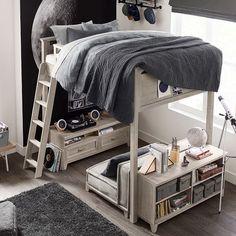 Hampton Storage Bed & Vanity Tower Set - bedroom furniture for teens Teen Bedroom Sets, Cool Bedrooms For Boys, Teen Boy Rooms, Teenage Room, Boys Bedroom Decor, Small Room Bedroom, Awesome Bedrooms, Bedroom Ideas For Teen Boys, Blue Bedrooms