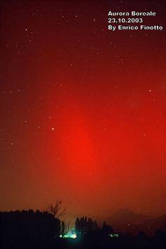Aurora Boreale the RED color is very rare-the least seen of all the aurora colors! So incredible!