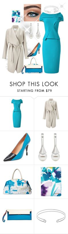 """""""Turq and Pearls"""" by trescrwndgg ❤ liked on Polyvore featuring Roland Mouret, Finesse, Alice + Olivia, Marni and Edge of Ember"""