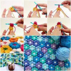 Crochet-Flower-Baby-Blanket