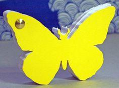 farfalla blocco note sagomato